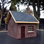 Gauge 1 Brick Line Side building with pitched roof.