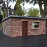 Gauge 1 Brick Line Side Building with flat roof.