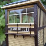 Gauge 1 Signal Box signage detail.