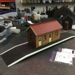 16mm Chelfham Station without porch and platform