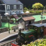 Caffyn's Halt with new pub and cricket pitch behind