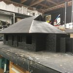 Woody Bay in workshop - front view