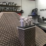 Woody bay in workshop - 3D printed chimney pots