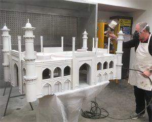 Taj in Spray Shop
