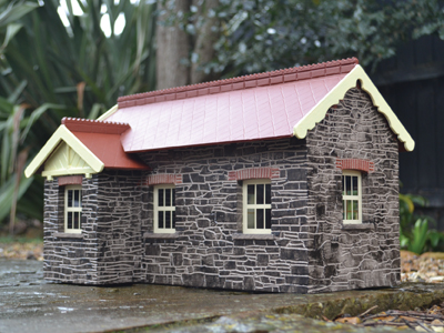 BM014 Chelfham Station Building with Porch Flat Pack