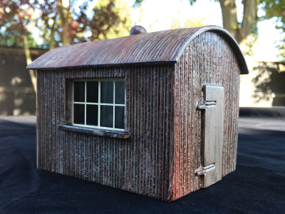 BM041 Gauge 1 Corrugated Iron Line Side Hut – Flat Pack
